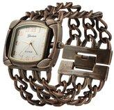 Geneva Platinum Womens Three Band Chain Watch