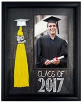 "New View Class of 2017"" Tassel Holder 4"" x 6"" Black Frame"