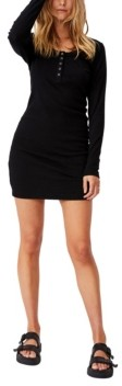 Cotton On Women's Heidi Long Sleeve Henley Mini Dress