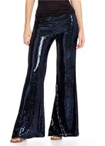 Free People The Minx Sequin Flare Leg Pant