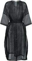 Jil Sander sheer Dalmazia coat - women - Silk - 32