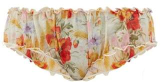 Loup Charmant Bloomer Floral-print Organic-cotton Briefs - Womens - Yellow Print
