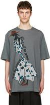 Yohji Yamamoto Grey Polka Dot Dress T-Shirt