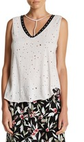 Hip Distressed Grommet Tank
