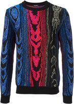 Balmain intarsia jumper - men - Cotton/Viscose - S