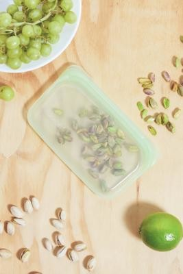 Stasher Palm Reusable Silicone Snack Bag - Green ALL at Urban Outfitters