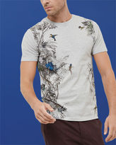 JELO Tropical graphic cotton Tshirt
