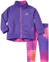 adidas Mosaic Tricot Jacket Set (Baby) - Purple - 6 Months
