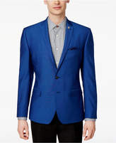 Nick Graham Men's Slim-Fit Stretch Blue Dot Sport Coat