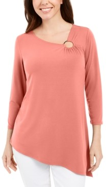 JM Collection Asymmetrical Ring Tunic, Created for Macy's