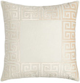 Lili Alessandra Guy Basketweave Pillow with Velvet Applique