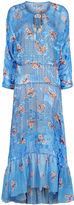 Preen by Thornton Bregazzi Blue Floral Flounce Hem Abel Dress