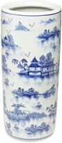 AA Importing 18 Chinoiserie Umbrella Stand, Blue