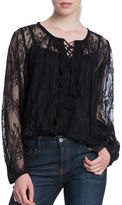 Plenty by Tracy Reese Long Sleeve Roundneck Lace Blouse