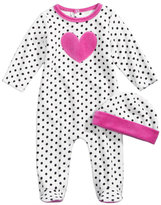 First Impressions 2-Pc. Hat & Heart Footed Coverall Set, Baby Girls (0-24 months), Created for Macy's