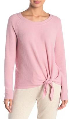 Socialite Lounge Tie Front Sweatshirt