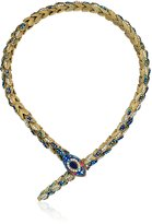 "Betsey Johnson Betsey Blues"" Pave Snake Collar Necklace, 20.5"""