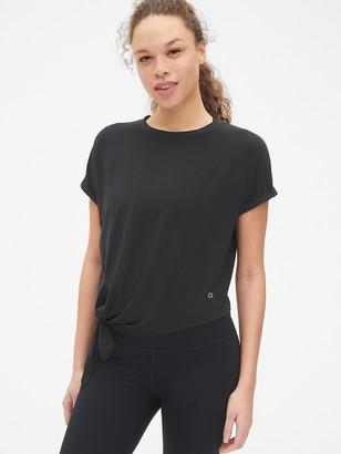 Gap GapFit Breathe Dolman Sleeve Side-Tie T-Shirt