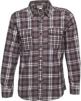 Converse Mens Sachchit Woven Pocket Checked Long Sleeve Shirt Charcoal Grey