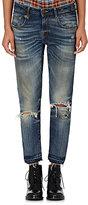 R 13 Women's Boy Skinny Jeans-BLUE