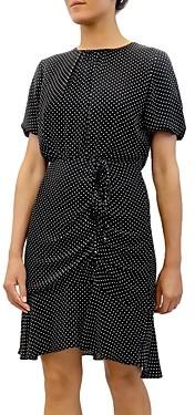 Sam Edelman Polka Dot Ruched Chiffon Mini Dress