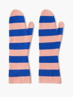 Extreme Cashmere Nina Striped Cashmere Mittens - Pink Multi