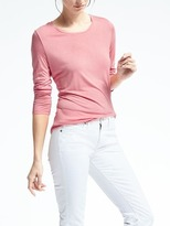 Banana Republic Long-Sleeve Modal Crew Tee