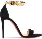 Christian Louboutin 100MM PLANETAVA SUEDE SANDALS