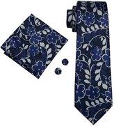 Hi Tie Hi-Tie Men's Classic Polka Dots Necktie Set for Party Business