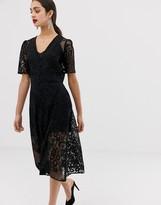 Asos Design DESIGN lace midi tea dress