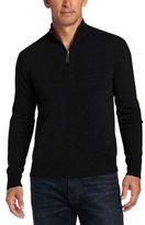Williams Cashmere Men's 100% Cashmere Quarter-Zip Sweater