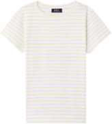 A.P.C. Yellow and White Stripe Thelma T Shirt - xs