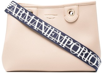 Emporio Armani Large Grain-Effect Faux-Leather Tote Bag