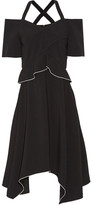 Proenza Schouler Cold-shoulder Crepe Dress - Black