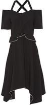 Proenza Schouler Cold-shoulder Crepe Dress - US10