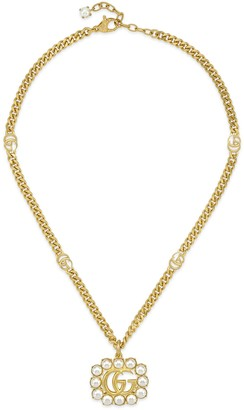 Gucci Pearl Double G necklace
