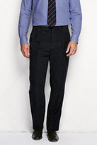 Classic Men's Pleat Front Traditional Fit 10-wale Corduroy Trousers-Black