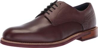 Ted Baker Men's JHORGE Oxford Dark red Leather 11.5 Medium US