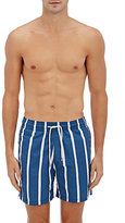 Solid & Striped MEN'S STRIPED SWIM TRUNKS-BLUE, WHITE SIZE S