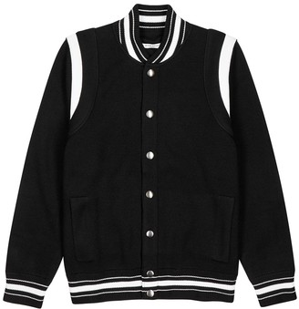 Givenchy Black Knitted Wool Bomber Jacket
