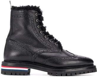 Thom Browne Shearling Lining Wingtip Boot