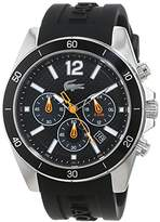 Lacoste Men's Quartz Watch with Black Dial Analogue Display Quartz Silicone 2010833