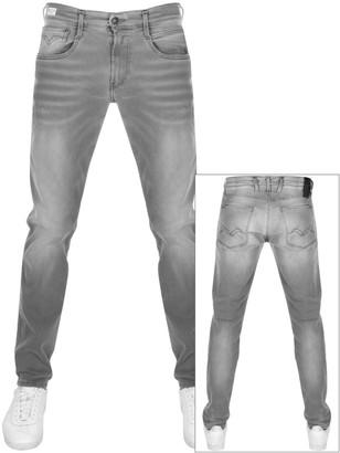 Replay Anbass Slim Fit Hyperflex Jeans Grey