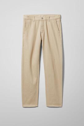 Weekday Barrel Cropped Denim Trousers - Beige