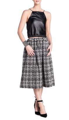 E. Tautz Pull Tie Wool Skirt
