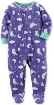 Carter's 1-Pc. Bird-Print Footed Fleece Pajamas, Baby Girls (0-24 months)