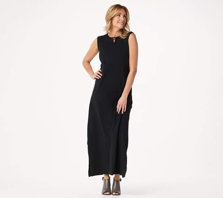 Denim & Co. Essentials Petite Perfect Jersey Maxi Dress