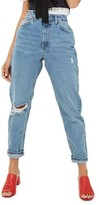 Topshop Women's Ripped Mom Jeans