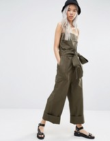 Weekday Strapless Military Jumpsuit