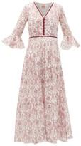 Le Sirenuse Le Sirenuse, Positano - Bella Valy Myers-print Cotton-voile Maxi Dress - Womens - Red Print